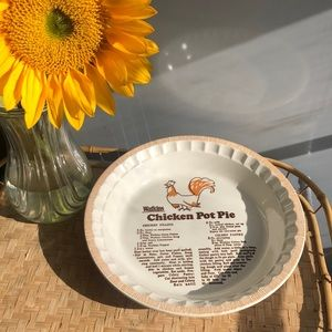 Vintage Watkins chicken pot pie plate